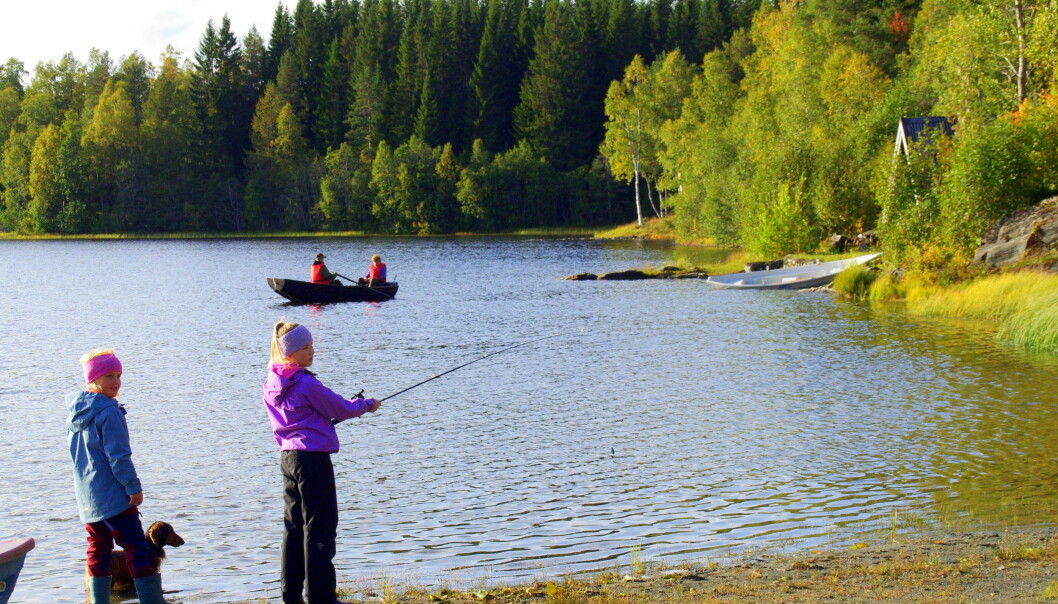 Litt meir fisking, medan dei som budde nærast rodde heim.