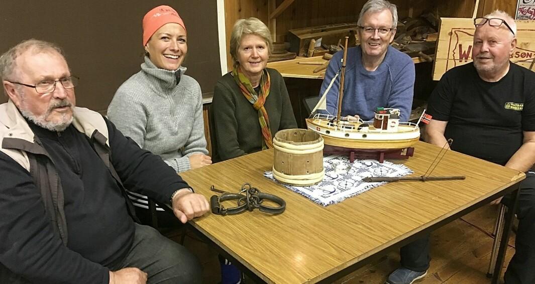 Styret i Bøfjorden Historielag dette året har vore Magne Bøe (frå venstre), Gunnhild Vetleseter Bøe, Eli Husby Moen, Bernt G. Bøe og Inge Dønheim.