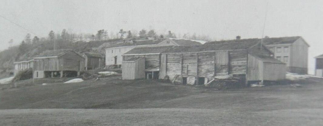 Bilde av begge Storholt-gardene før brannen