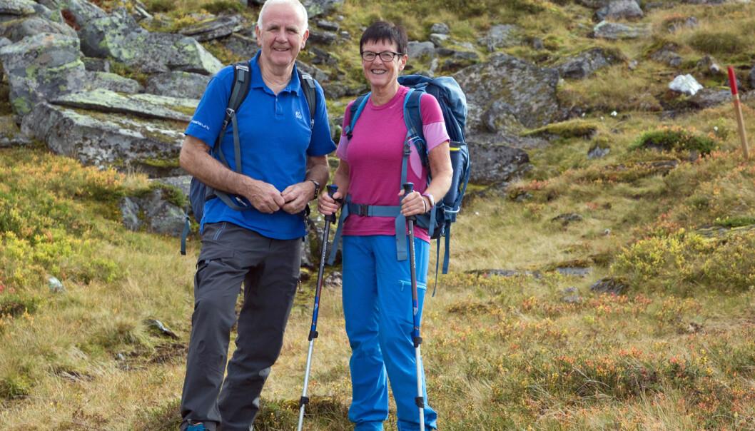 25 deltakere denne gangen. Her ser vi to av dem, Arnfinn og Aud.