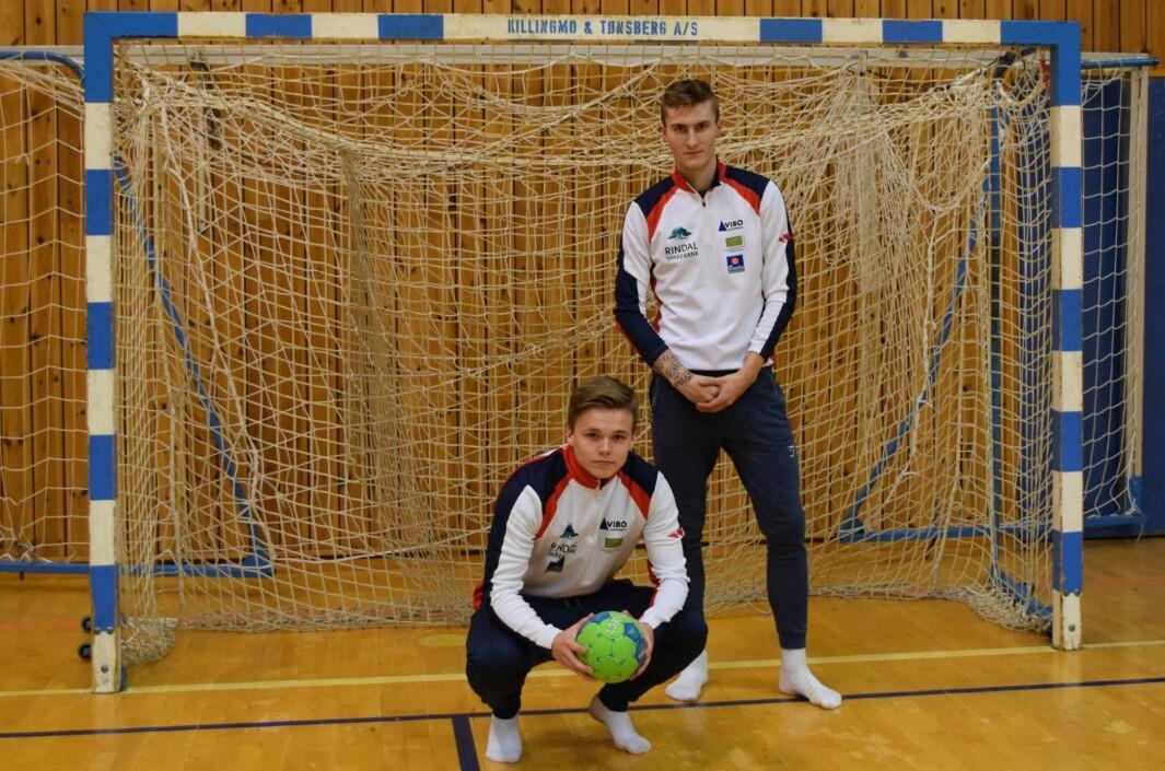 Daniel Hagen Eide og Jørgen Gjerstad blir trenere for Rindal IL G10 denne sesongen.