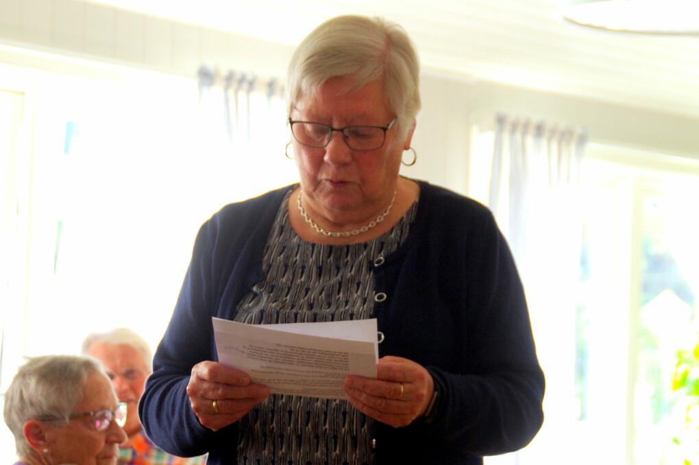 Ragnhild Stavne Bolme, som er ledar for Rådet for eldre og mennesker med nedsatt funksjonsevne, leda møtet.
