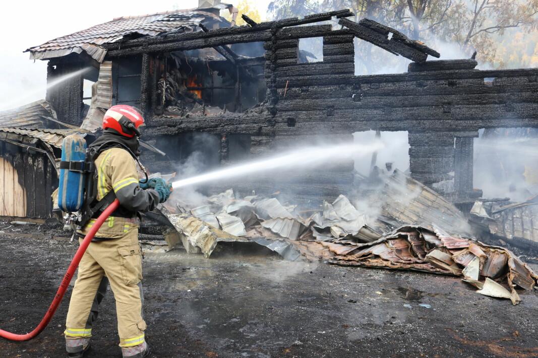 Brannslukking i Todalen.