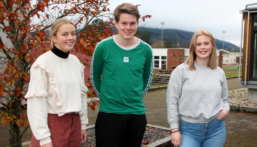 Kristin Bøklep (f.v.), Edvard Bolme Fjerstad og Gunn Astrid Hove.