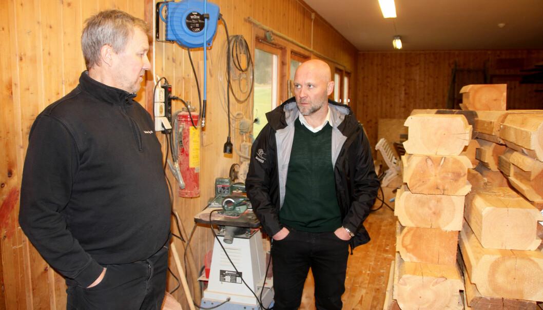 Georg Solem, Solem Sag (t.v.) og Atle Norli, Surnadal Transport.