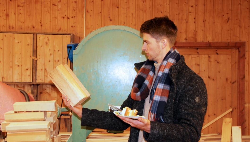 Olav Engelstad har mange ideer til nye produkter, og kanskje kom én av dem her?
