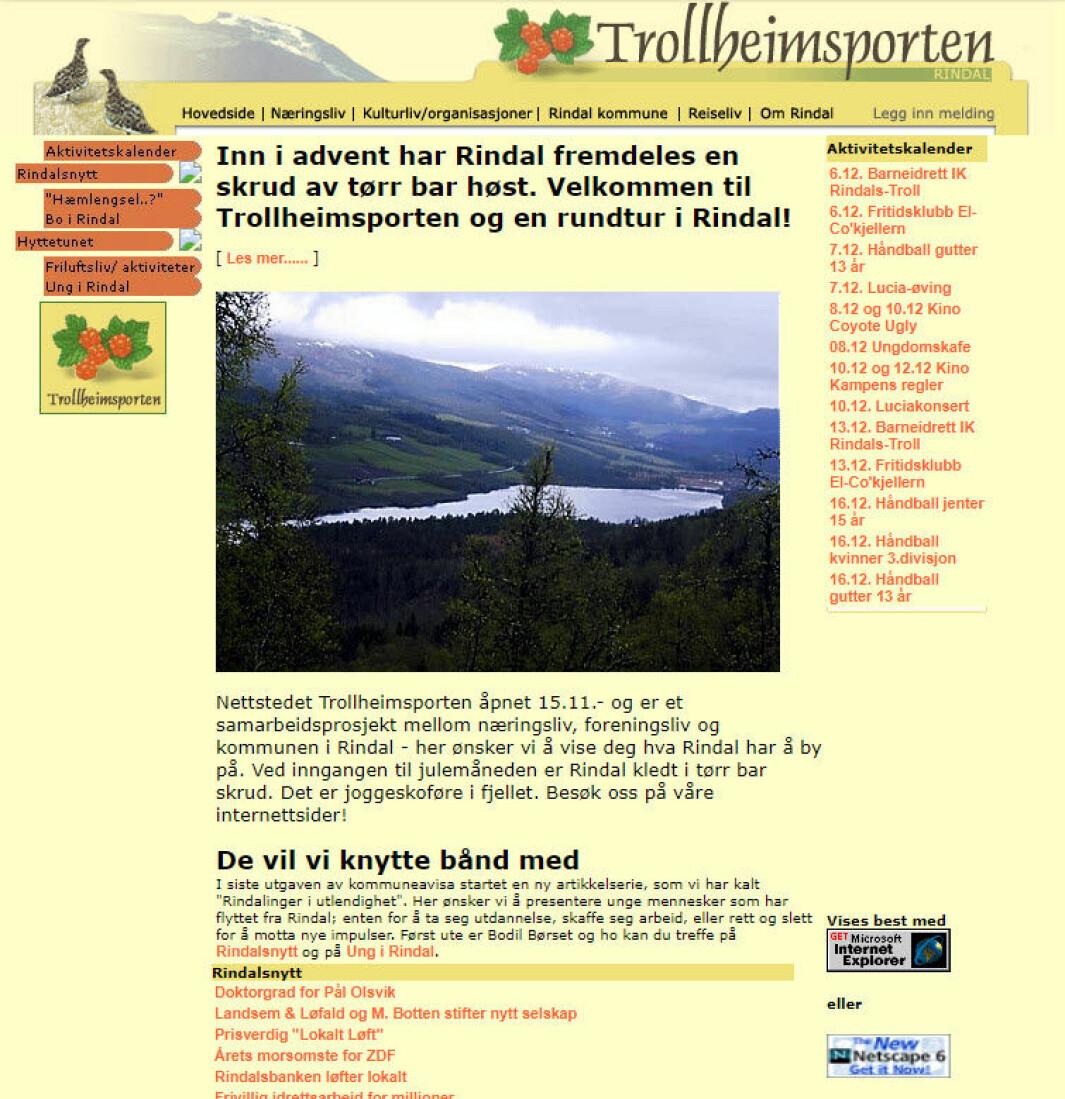 Slik så den første utgaven av Trollheimsporten ut.