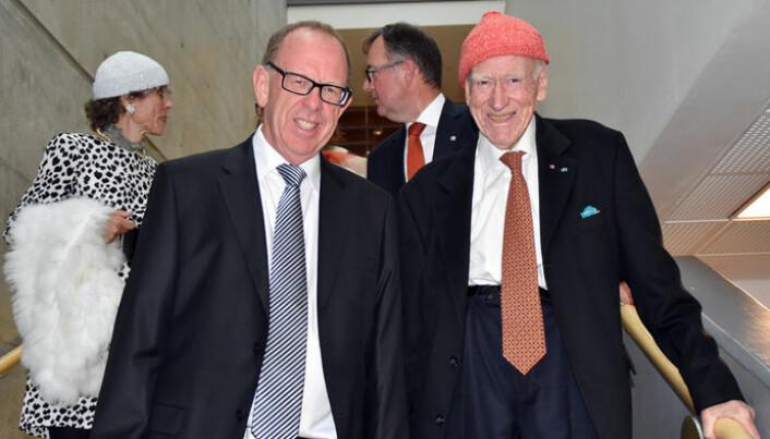 Olav Thon kom på jubileumsfeiringen til Lars Løseth i 2017