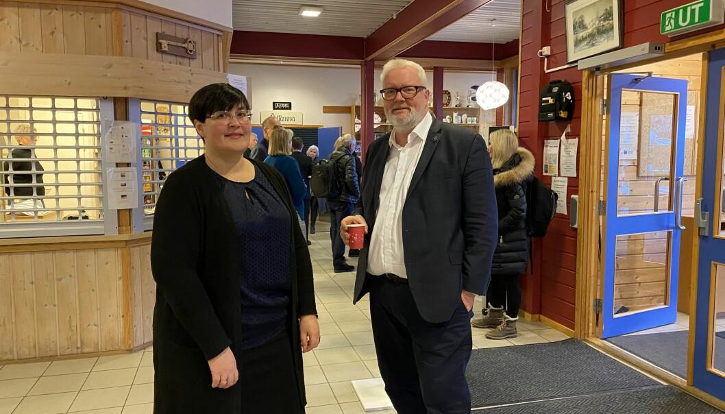 Ordfører Vibeke Langli og fylkesmann Frank Jenssen.