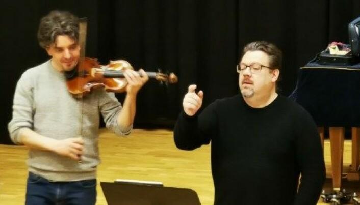 Erling og Alex , kjempeflinke og inspirerende motivatorer fra Trondheimsolistene . Nå er det bare å glede seg til konsert i Surnadal 8. januar 2021