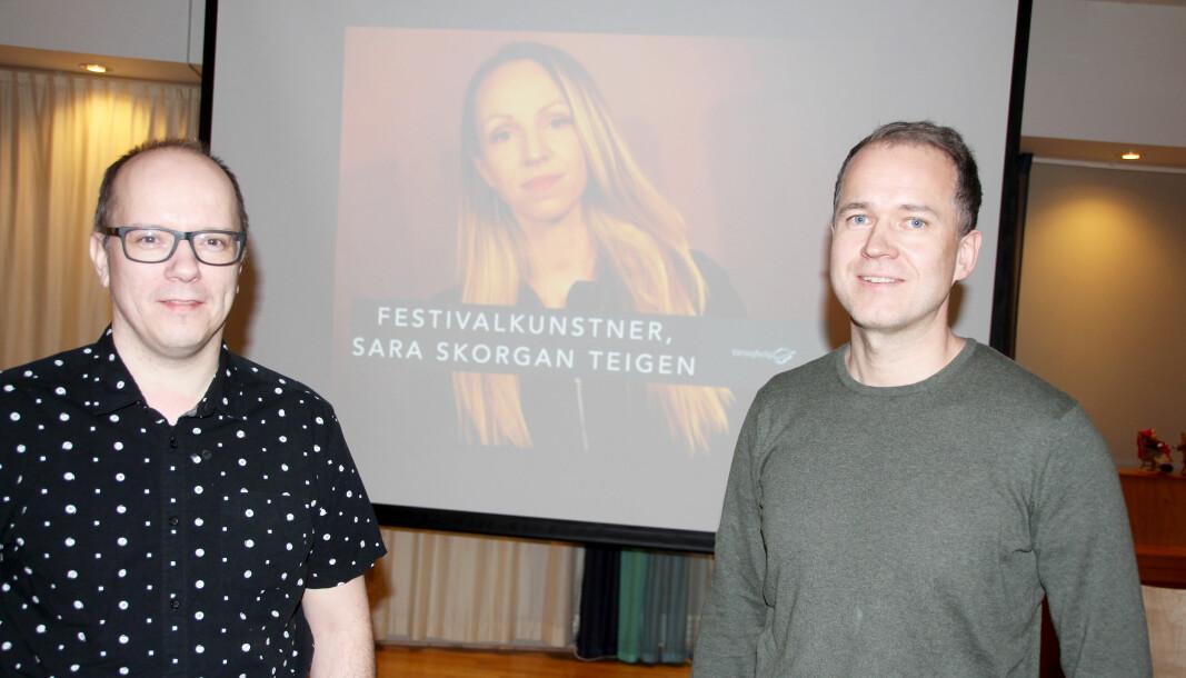 Styreleiar Rune Dalager (t.v.) og dagleg leiar Anders Larsen i Laget Vårsøg.