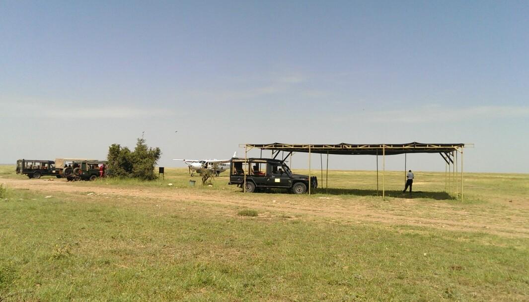Flyplassen i Masai Mara.