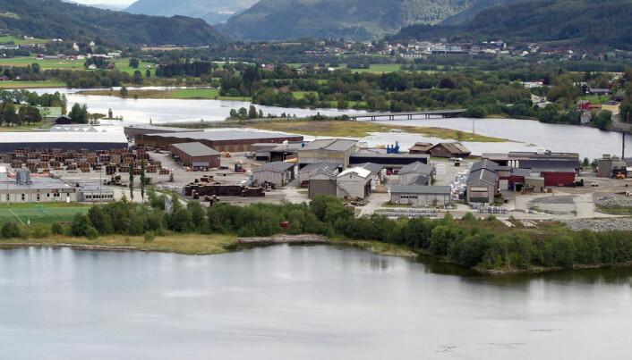 Vokser raskt: Talgø MøreTre produserer Royalimpregnerte bord i Surnadal. Her gikk 80.000 m3 trelast gjennom anlegget i år, kyndig bearbeidet av 70 ansatte.