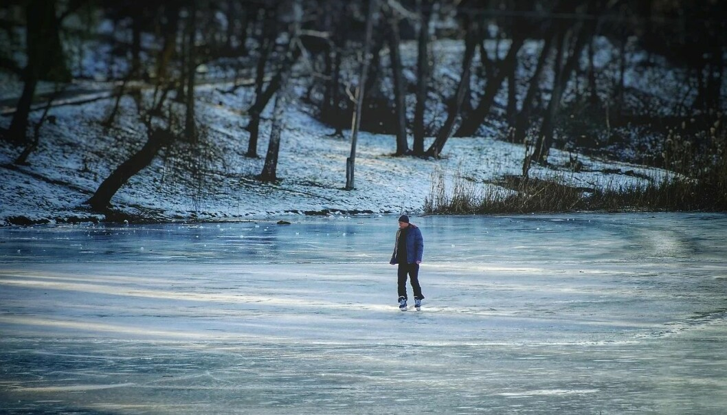 Vær forsiktig om du er usikker på om isen er trygg