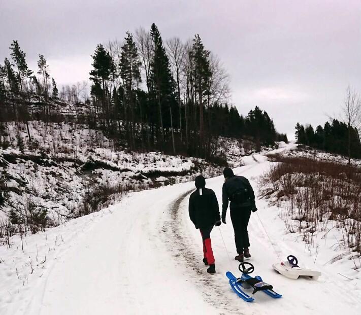 Perfekt for vintersko og akebrett!