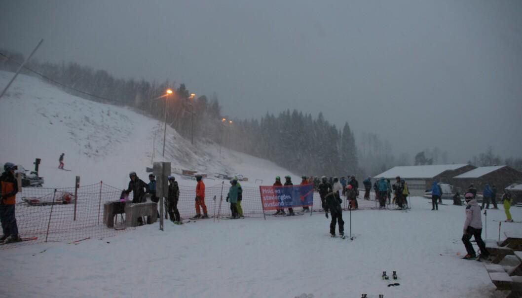 Bra oppmøte i alpinbakken i dag