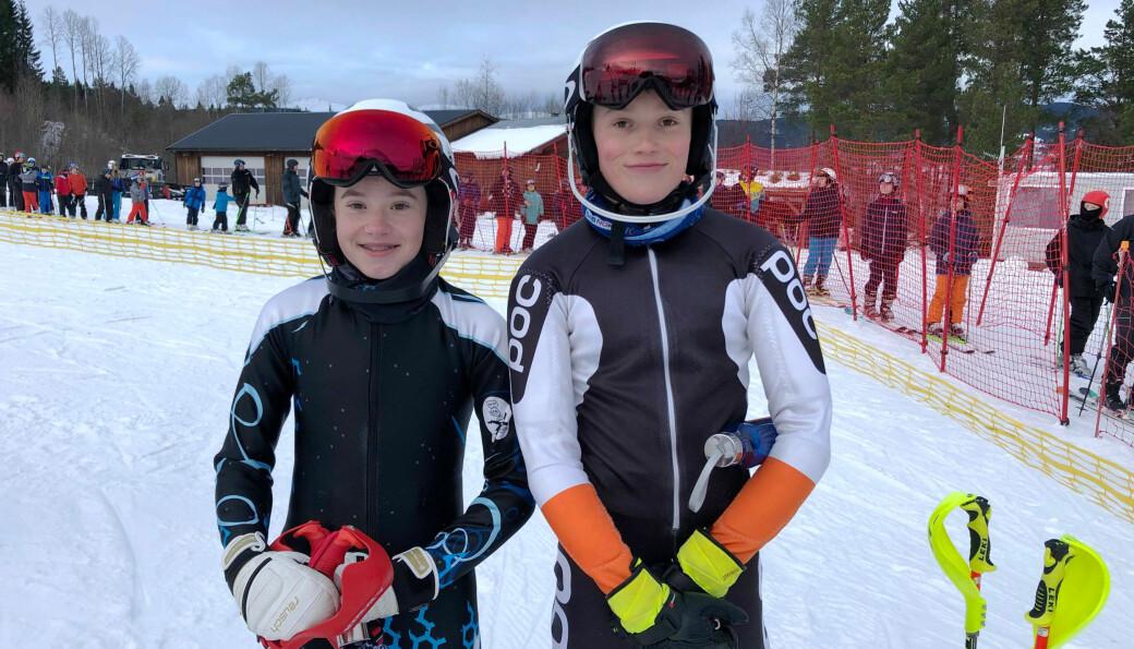 Maja Mogstad og Jarand Husby Haugen er nybakte klubbmestere i slalåm