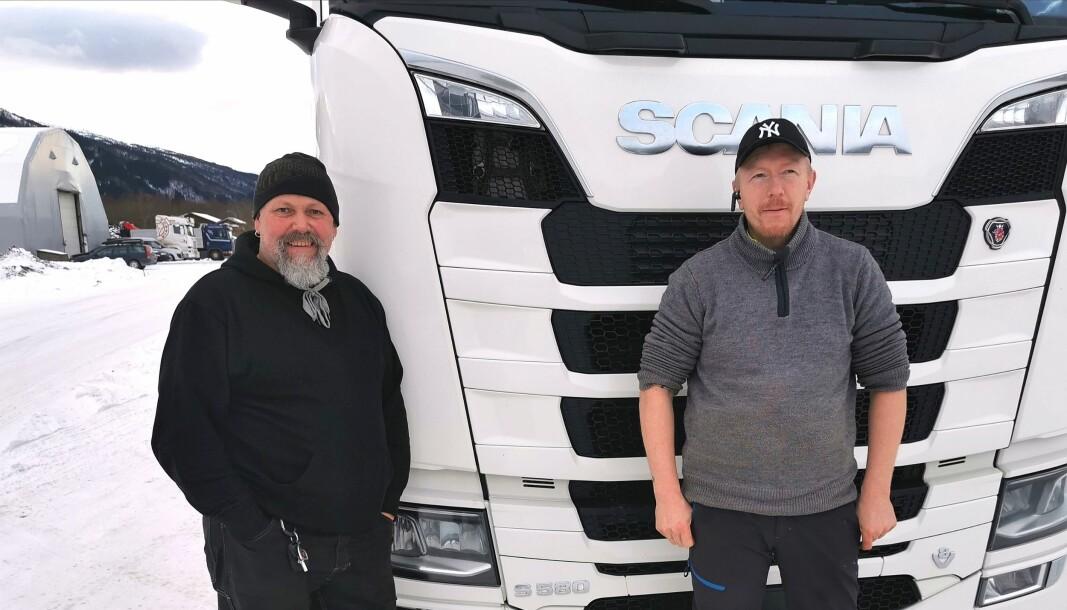 Bra sjef.Svenn Rune Kjølstad og Ingebrigt Haugen