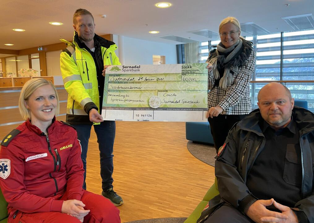 Linda Kvande (f.v.), Anders Grimsmo, Liv Dalsegg og Tor Arne Moen.