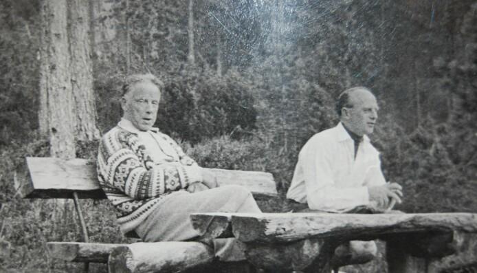 Hans Hyldbakk og bestefaren til Lisa, Finn-Harry Bergmann Foto: privat
