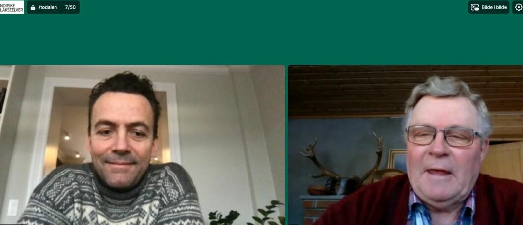 Vegard Heggem, Norske Lakseelver, og Asbjørn Karlsen, leder i Todalen elveeigarlag.