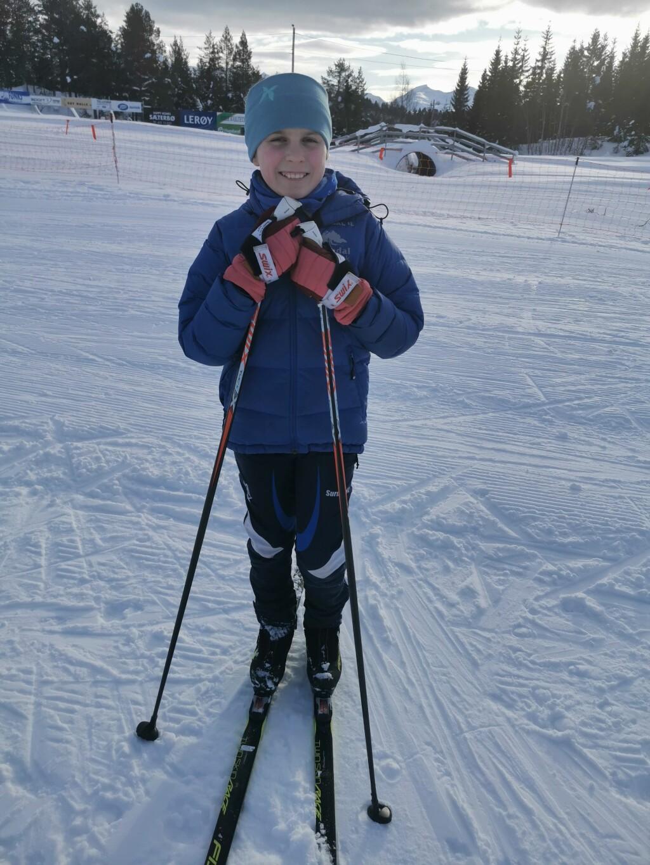Ine Hamnes Øye lufter skiene