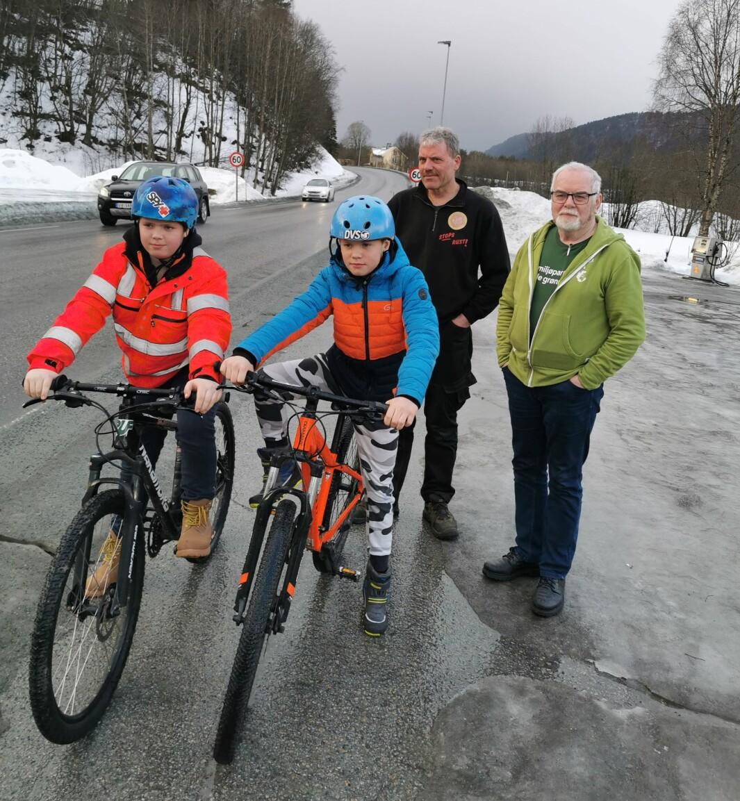 Fra venstre: Markus Aune, Håkon Aune, Roar Aune og Erik Moen