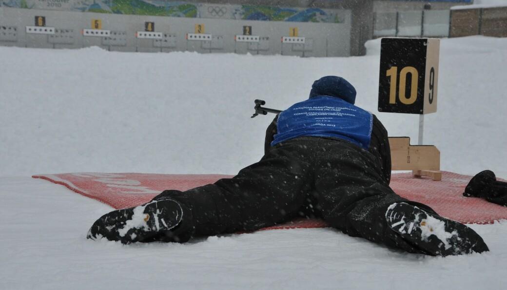 Illustrasjonsbilde av skiskyting