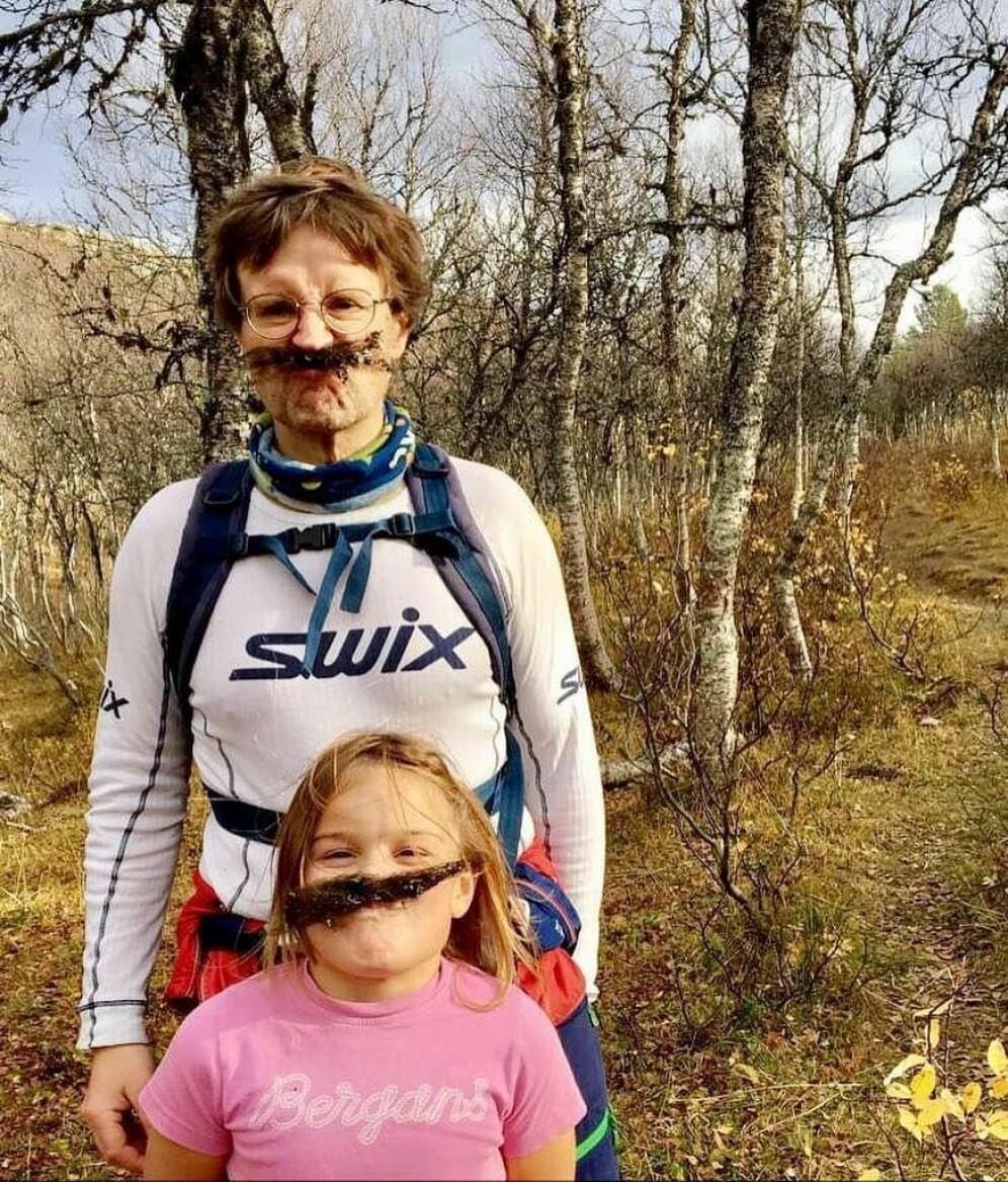 Jon Solem med dottera si, Ane.