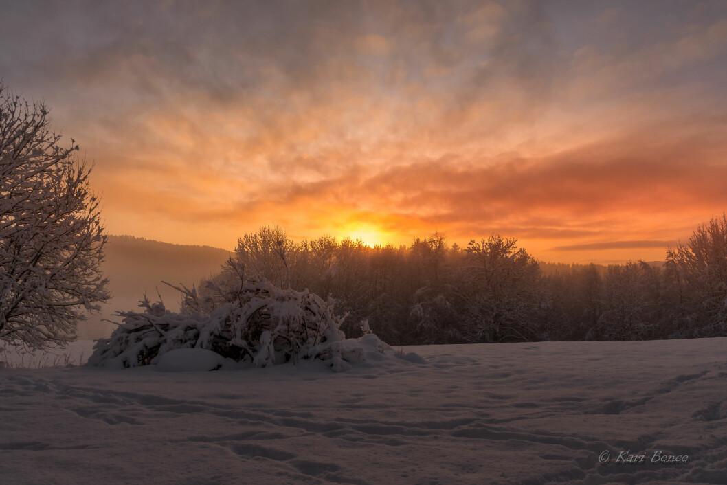 Solnedgang på Haugmo