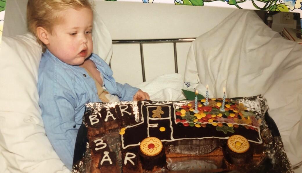 Bård feiret 3-årsdagen sin på sykehuset