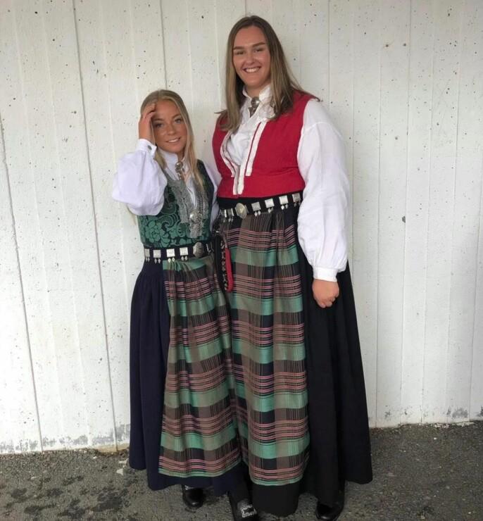 Ihne sammen med sin gode venninne Nora Sande Holtan i juni 2019