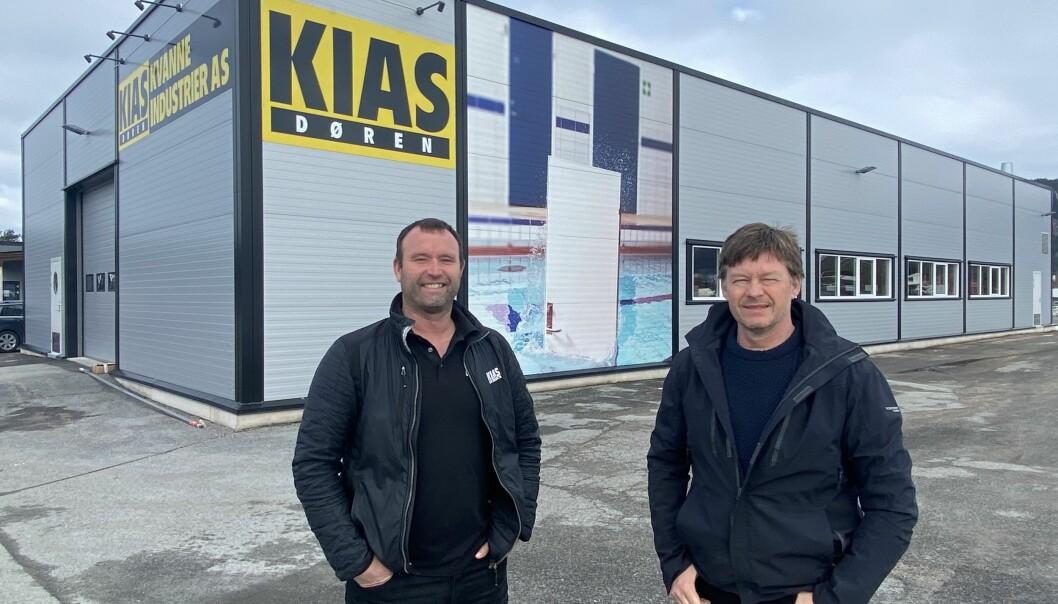Salsansvarleg Grim Røen (t.v.) og dagleg leiar Stig Kvendset ved KIAS