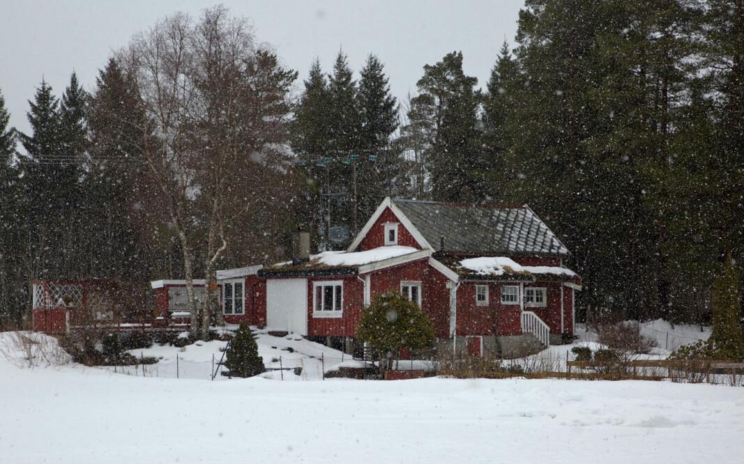 Sluddbyge da jeg passerte hytta Fribu, som ligger ved gardene Folden og Høgås i Rindal.