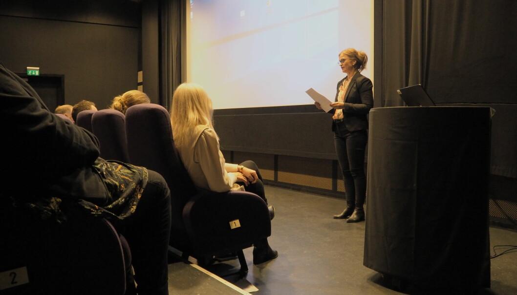 Ordfører Margrethe Svinvik holdt tale for russen.