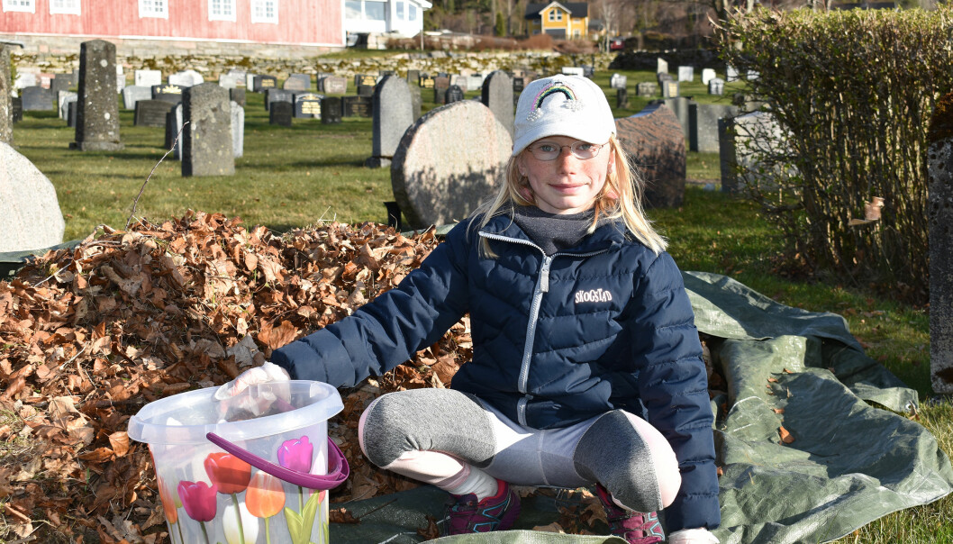 11 år gamle Svea Nes Kvande deltok på kirkedugnad for første gang