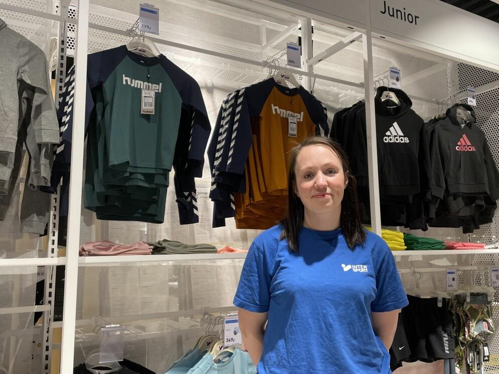 Mali Nerbu Løfald gleder seg til å ønske kundene velkommen til den nye InterSport-butikken.