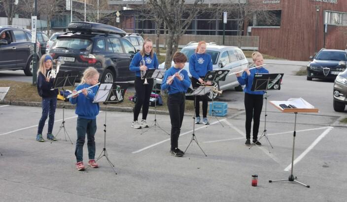Fløytesolo ved Elke, Magni og Nina