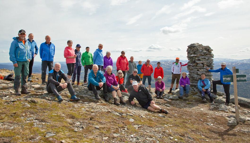 25 turgåere fikk en flott dag til fjellet.