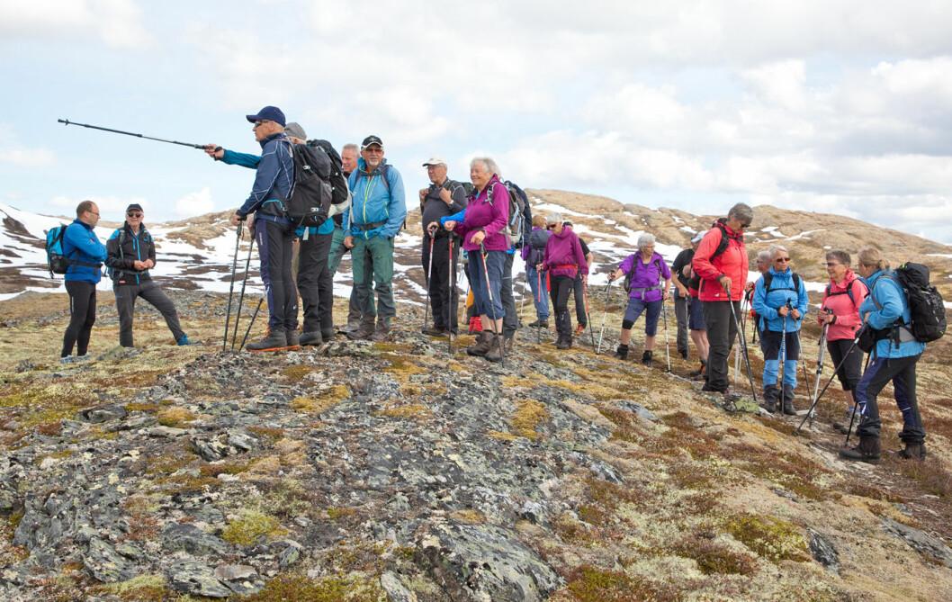 Å gå bortover Langskarven er en nytelse for en turgåer: Tørt og lett terreng og god utsikt i alle retninger.