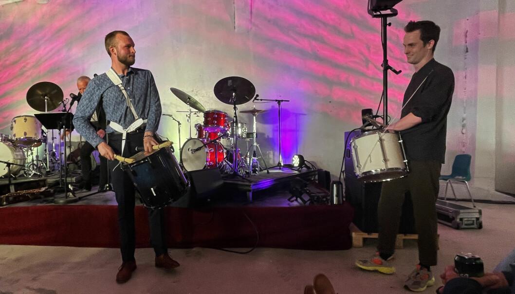 John Pål Inderberg (bak til venstre), Frank Hannasvik og Oddbjørn Sponås imponerte stort under fredagskonserten i Surnadal Billag.