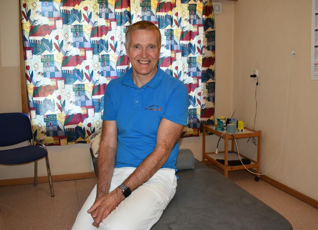 Lars Lund på sin aller siste arbeidsdag
