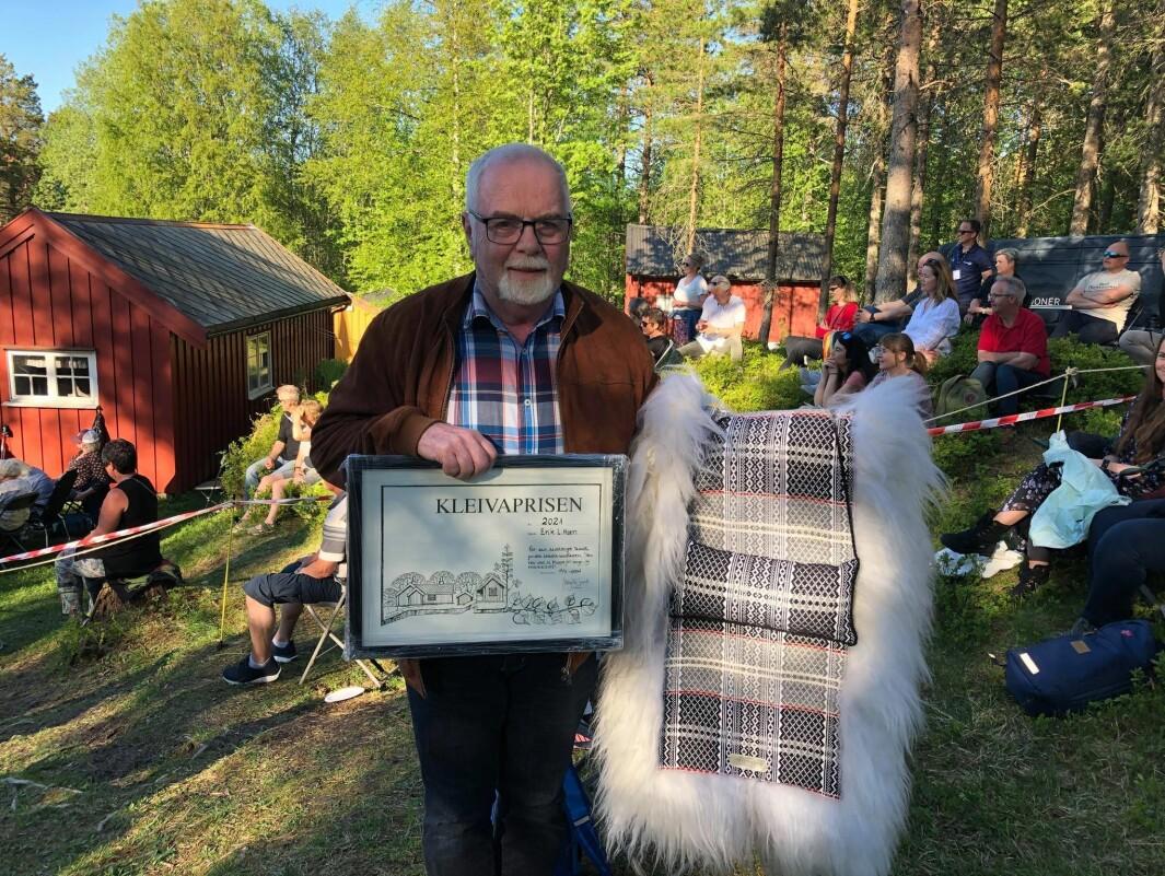 Erik L Moen er vinnaren av Kleivaprisen 2021.