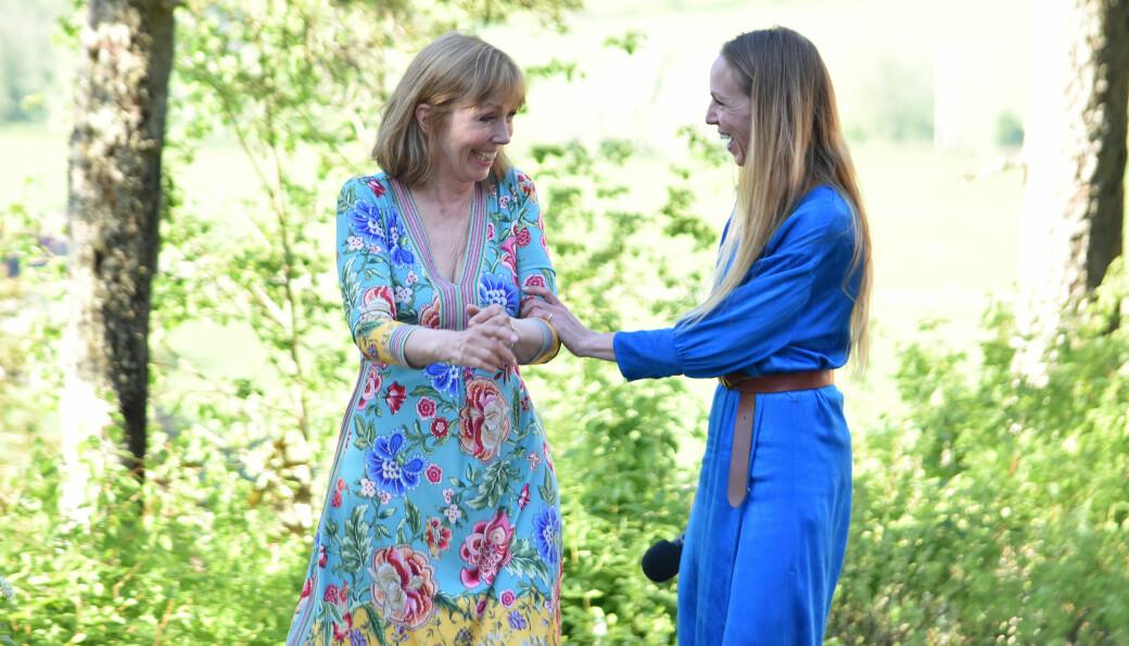 God stemning mellom mor og datter i sommerværet på Kleiva lørdag kveld