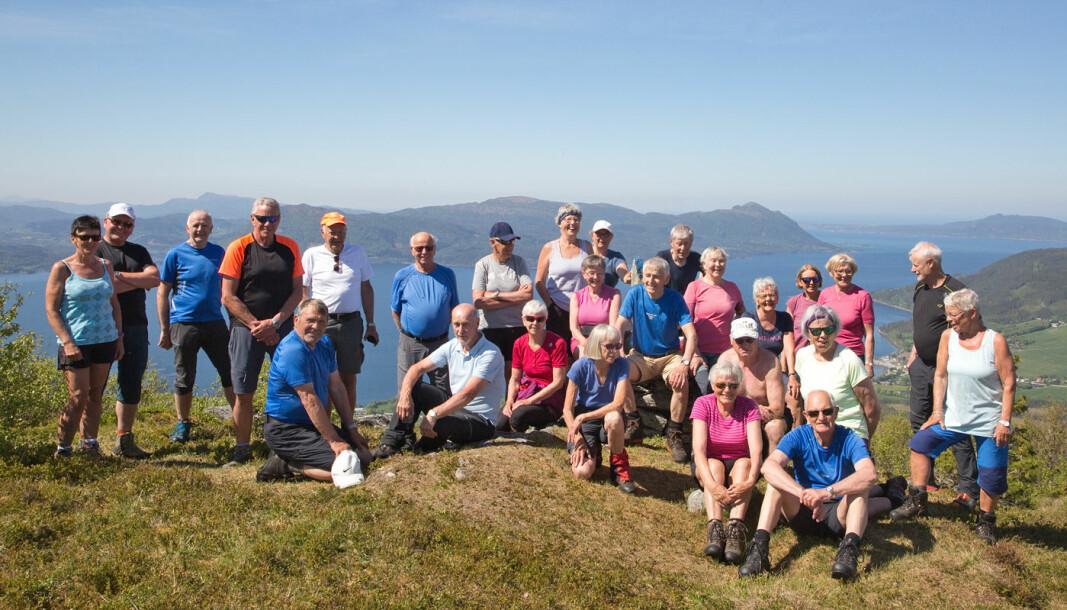 27 turgåere fikk en fin tur på den første dagen i juni.