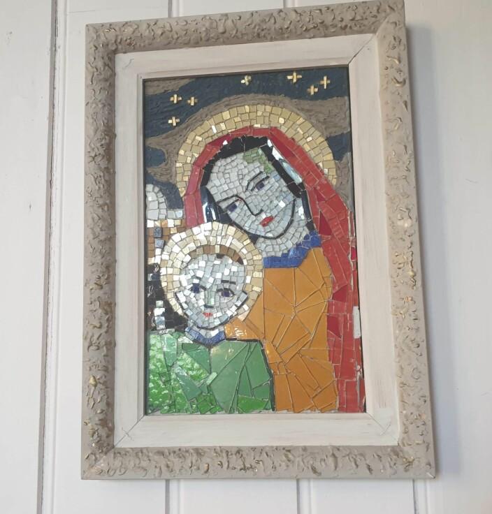 Madonna og barnet i mosaikk