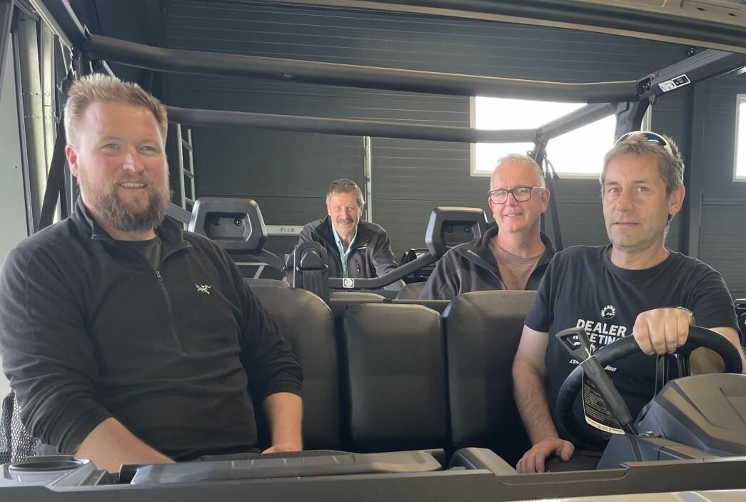 Ola Inge Svinsås (f.v.), Rolf Kvernberg, Malvin Jonli og Jon Moen.