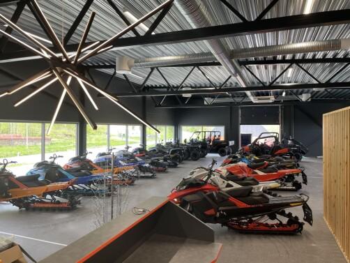 RBLs nye butikk blir stor og luftig, med god plass til både kjøretøy og andre varer.