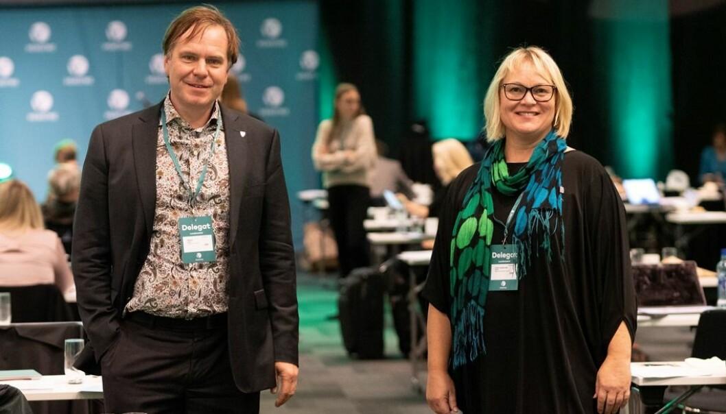 Alfred Bjørlo og Lena Landsverk Sande.
