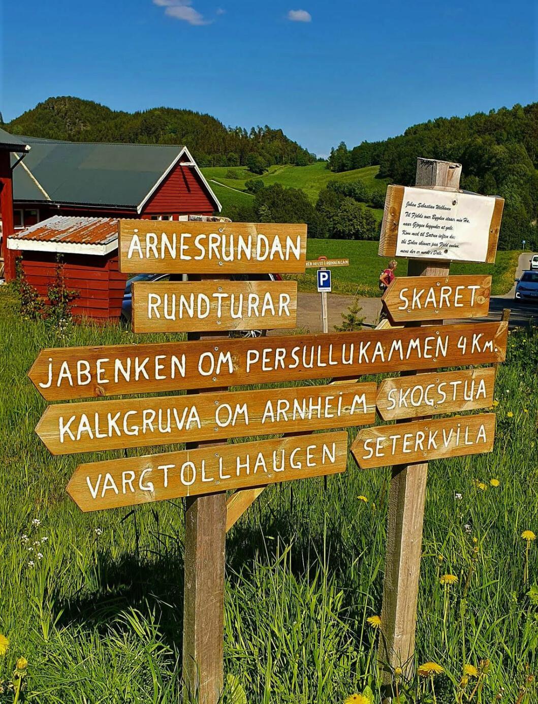 Start på turen ved Jørristuas på Årnes.